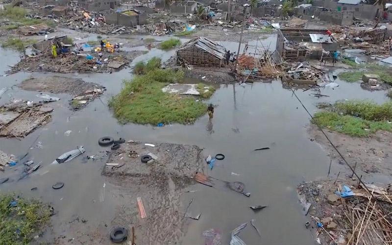 Cylcone Idai : Une ville quasi-rayée et plusieurs morts au Mozambique et au Zimbabwe